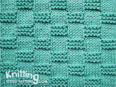 Knitting stitch for beginner. Garter Block stitch ...
