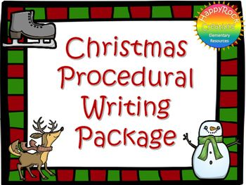 This Christmas Procedural Writing Package includes a mini-lesson, Christmas vocabulary activity, 5 procedural writing prompts, graphic organizer, Christmas writing paper and a self-assessment checklist. Print and go - use with a Christmas/winter activity OR as a stand-alone writing activity.