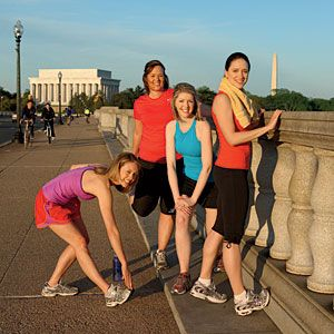 Running is one of the most accessible forms of exercise there is. And while the treadmill is fine for calorie burn, you'll get even more from exploring your neighborhood with friends.