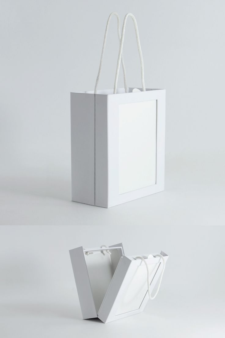 A rigid cosmetics bag structure with a front PVC window slot for art.