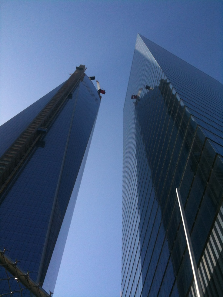 Equality as seen by the bottom 99%. (Freedom Tower on the left... a much taller structure).