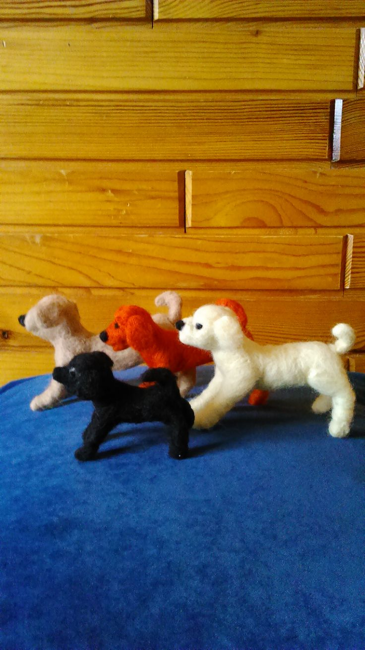 More dogs inspired by Gdańsk needle felted toy , 11 century:) Handmade by Alina Wodzińska