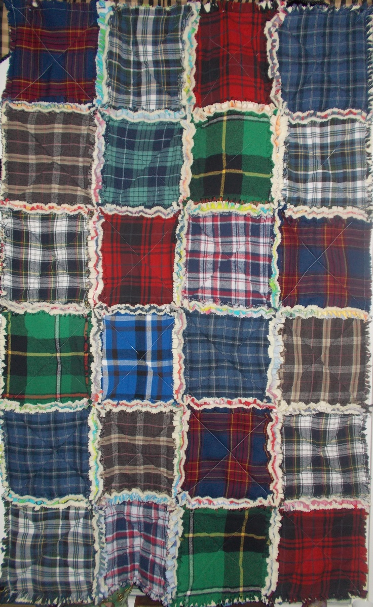 Toddler Size Quilt Plaid Flannel Side For Dad Debbie Did