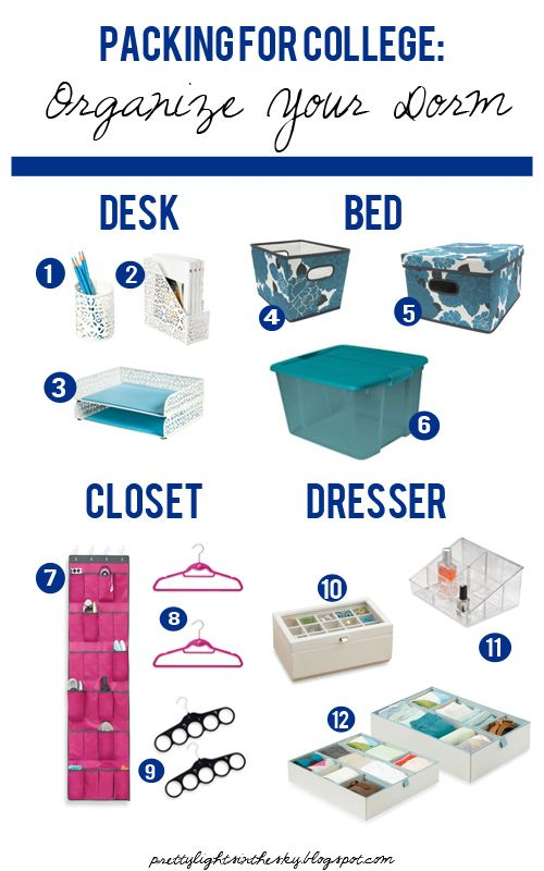Packing for College: Organize Your Residence Hall Room