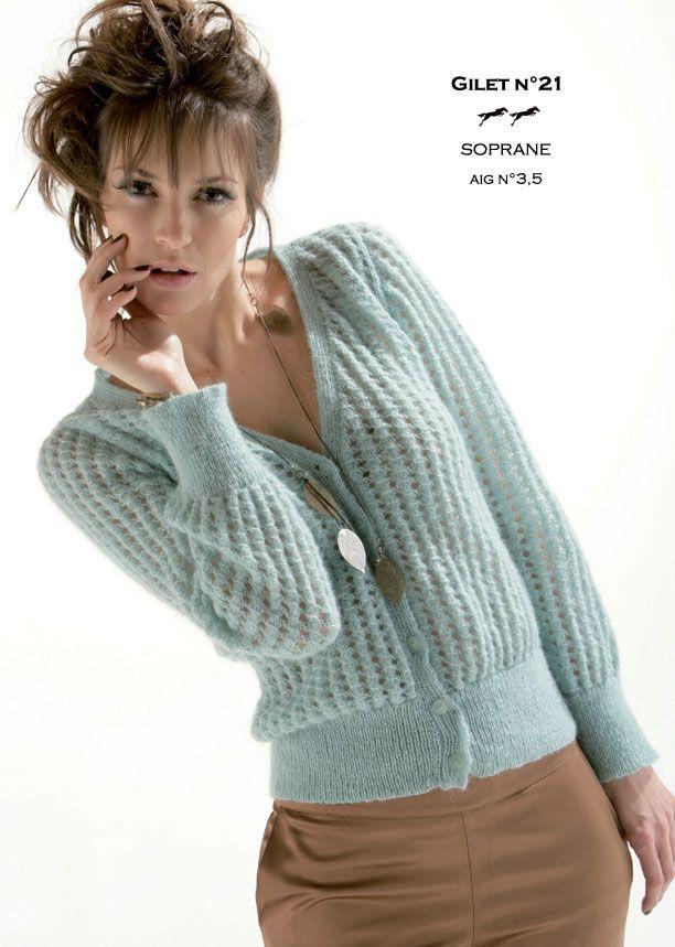 modele tricot gratuit laine cheval blanc