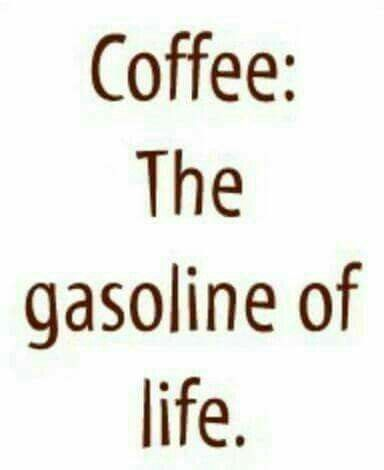 Start your engines: drink your coffee. Geetered coffeeFIEND.