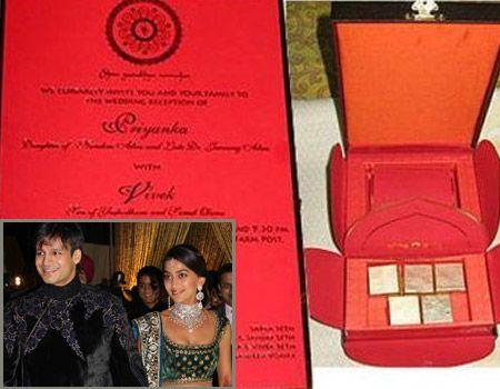 14d41ad78156f31a1a0ec7b04047d2dc vivek oberoi celebrity couples 261 b�sta bilderna om wedding invitations p� pinterest,Abhishek Bachchan Wedding Invitation Card