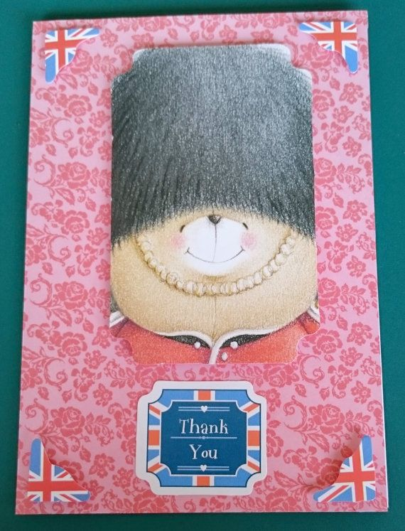 Handmade C6 3D Greeting Card  Thank You by BavsCrafts on Etsy