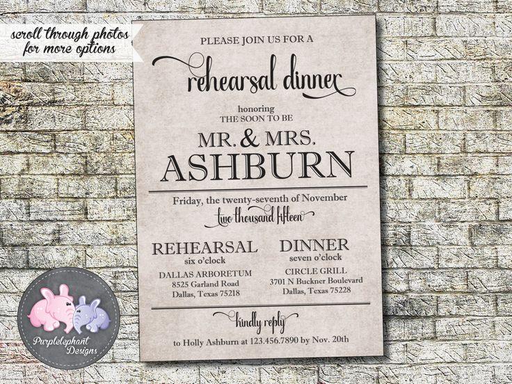 2612 best Rehearsal Dinner Invitations images on Pinterest Texts - printable dinner invitations