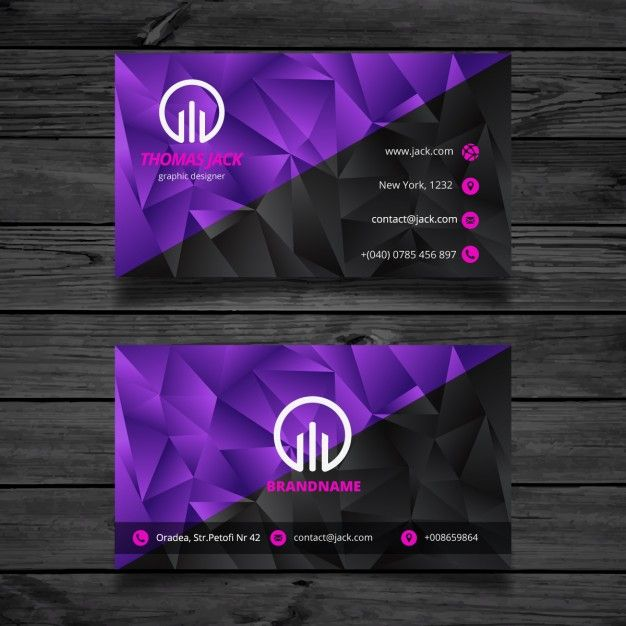 11 best business cards images on pinterest business cards black and purple abstract business card free vector reheart Gallery