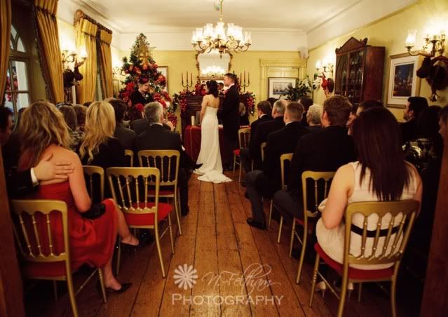 Wedding ceremony at Angmering Manor  Photo by Nicki Feltham