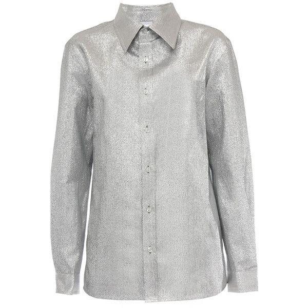 シルバーポリエステルシャツ SILVER SHIRT | ASHISH アシシュ | レディース - トップス - シャツ | Silver... ❤ liked on Polyvore featuring tops, silver shirt, silver top, ashish and shirts & tops