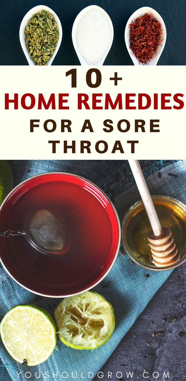 Home remedies for a sore throat. Great ideas to get you feeling better fast.