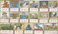 Het Leesplankje: Hollands: Borduurpakketten: Webshop: Online Borduurplezier Wow! Aap-Noot-Mies!