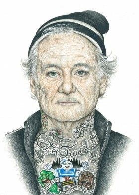 bill murray billmurray inked ikons tattoo art portrait movie
