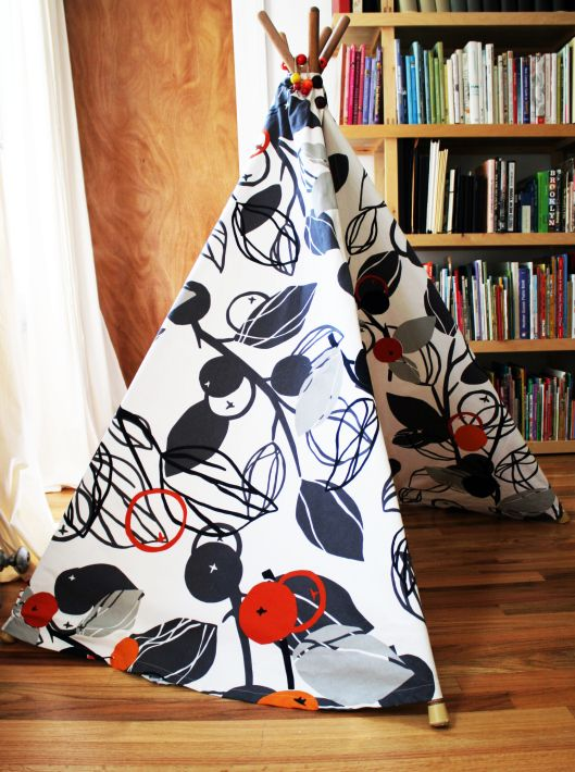 Diy Ikea Fabric Teepee Tent Design With Kids In Mind
