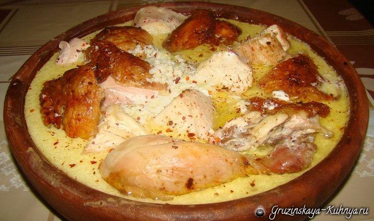 Рачинский шкмерули - грузинское блюдо из курицы