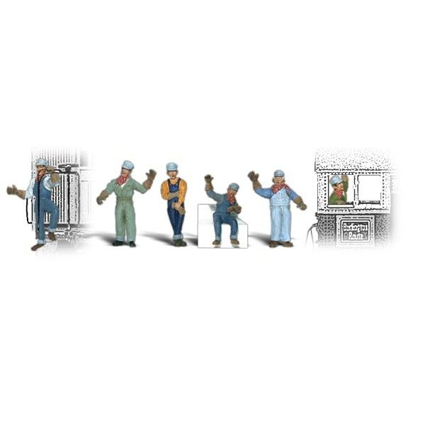6 Woodland Scenics HO Scale Scenic Accents Figures//People Set City Workers