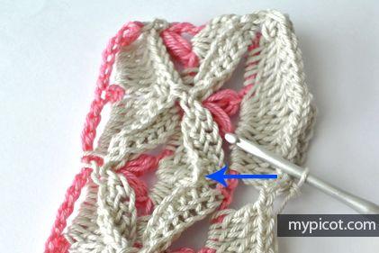 crochelinhasagulhas: Ponto de crochê texturizado