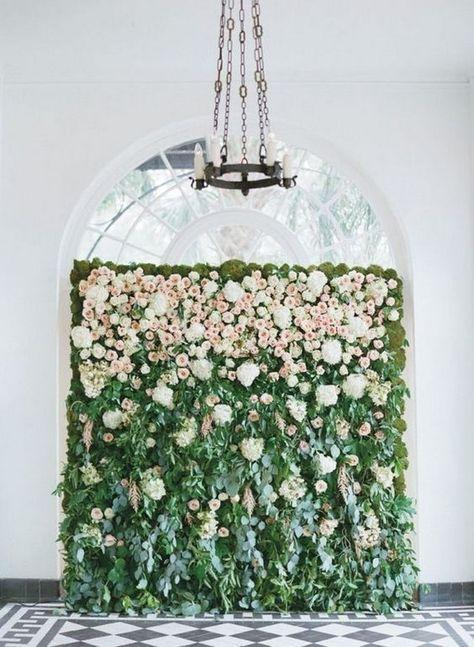 10 Brilliant Flower Wall Wedding Backdrops for 2018 | Pinterest ...