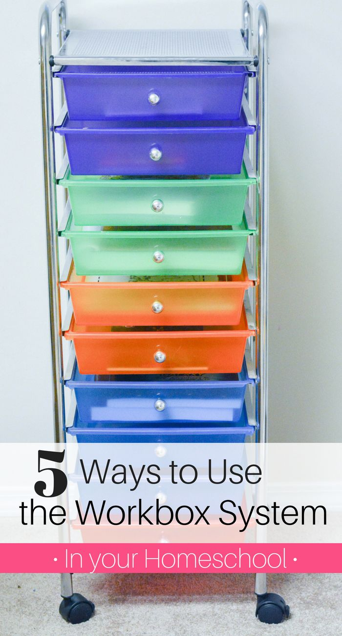 5 Ways to use the Workbox System in your Homeschool- several homeschool organization tips