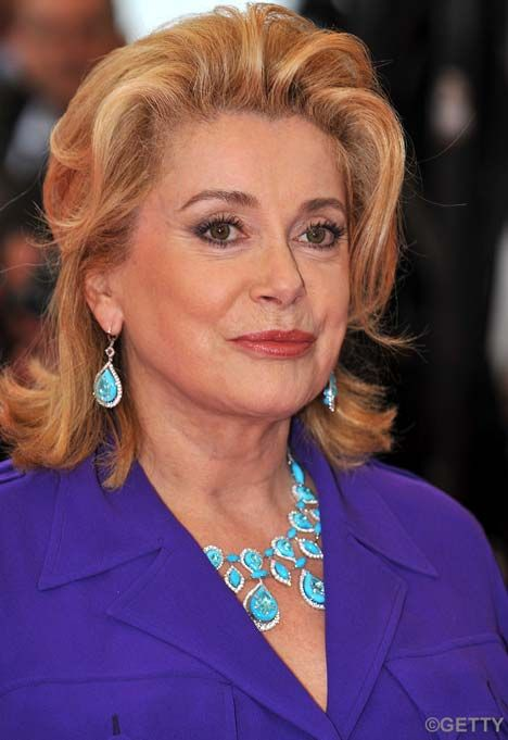 Catherine Deneuve, another classic beauty aging gracefully