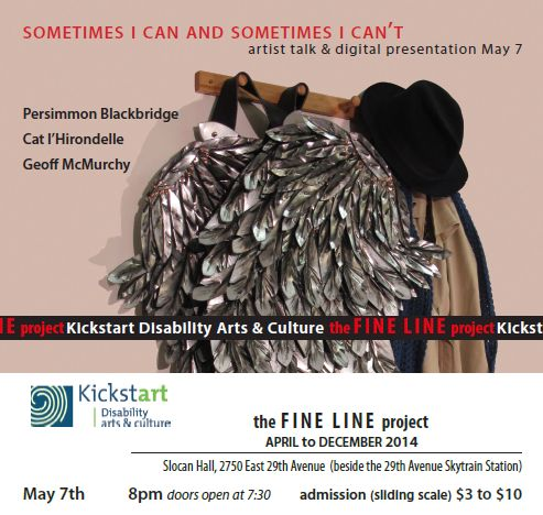 Upcoming event for artists with challenges to discover how to overcome obstacles they face in their work. Organized by Kickstart Disability Arts and Culture.