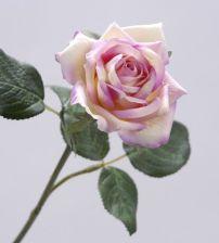 Zijden roze roos