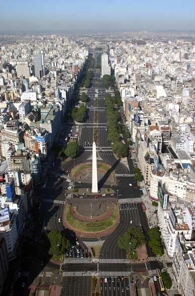 Av 9 de Julio - Buenos Aires. Still the widest ave. in the world i think.