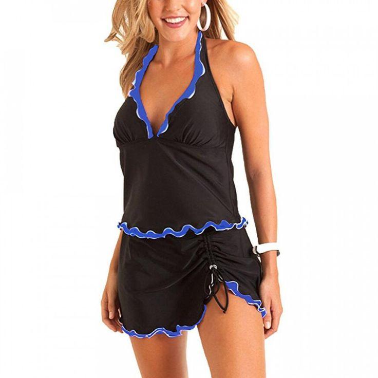 Dámské plavky s tmavě modrým lemováním – Velikost L Na tento produkt se vztahuje nejen zajímavá sleva, ale také poštovné zdarma! Využij této výhodné nabídky a ušetři na poštovném, stejně jako to udělalo již velké …