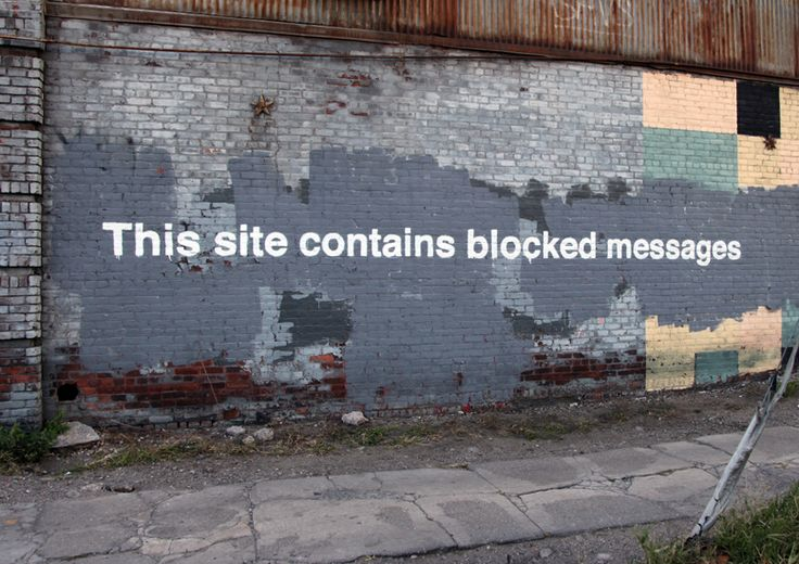 This site contains blocked messages by Banksy #banksyny