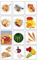 Jeu d'images sur l'alimentation