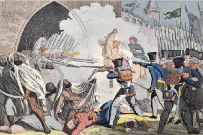 Combat aux portes d'Alger en 1830 contre les Français