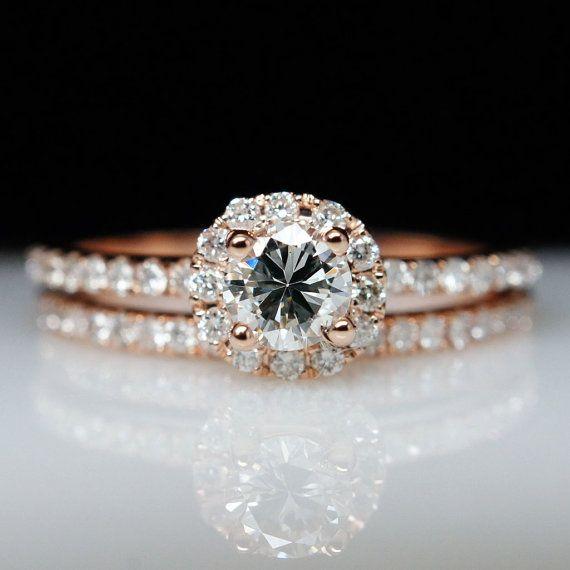 14k Rose Gold Diamond Solitaire Engagement by JamieKatesJewelry, $1500.00