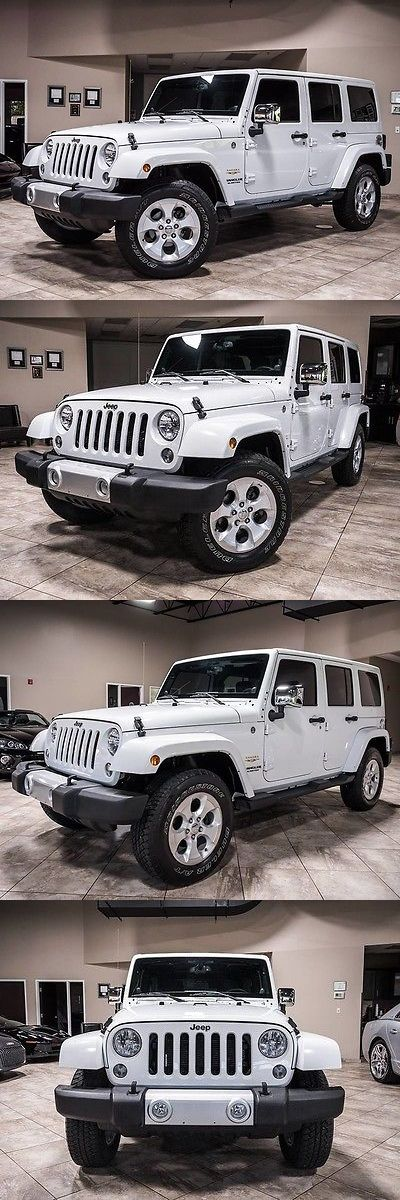 SUVs: 2014 Jeep Wrangler 2014 Jeep Wrangler Unlimited Sahara 4X4 Bright White Gps Hardtop Loaded! -> BUY IT NOW ONLY: $33800 on eBay!