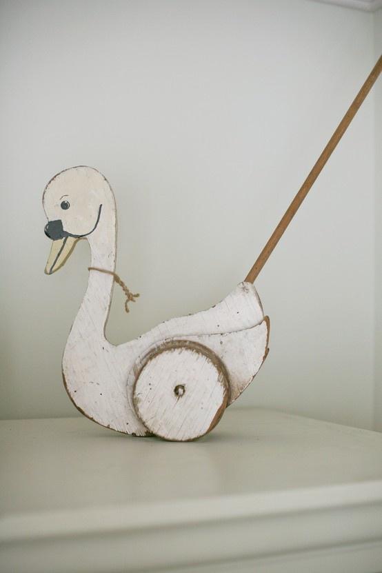 loopzwaan, push along swan - www.prikkeltje.nl