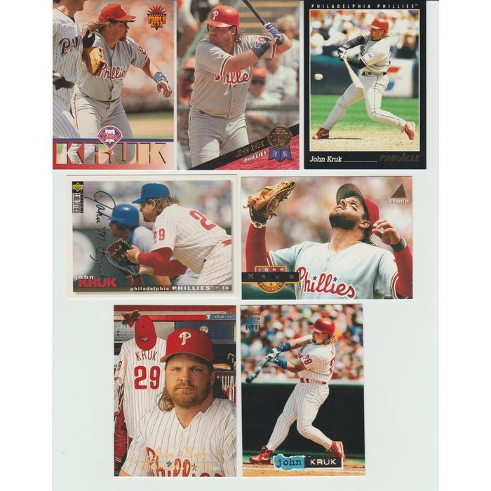 HUGE Different 35 + JOHN KRUK cards lot 3 RC 1986 - 1994 Padres Phillies traded