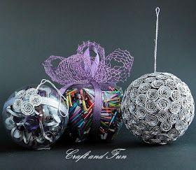 Riciclo Creativo - Craft and Fun: Palle di Natale da riciclo creativo, che meraviglia!
