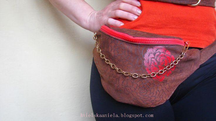 DIY Waist hip bag,belt bag,fanny pack (pattern) torebka nerka ,torebka na pasku DIY(wykrój)