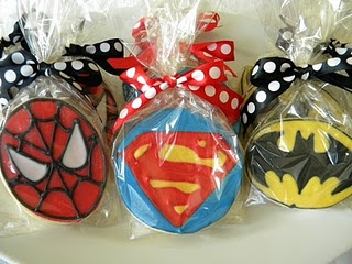 Super Hero cookies by Whimsy Cookie Co.