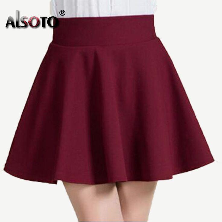 New 2016 Summer style sexy Skirt for Girl lady Korean Short Skater Fashion female mini Skirt Women Clothing Bottoms