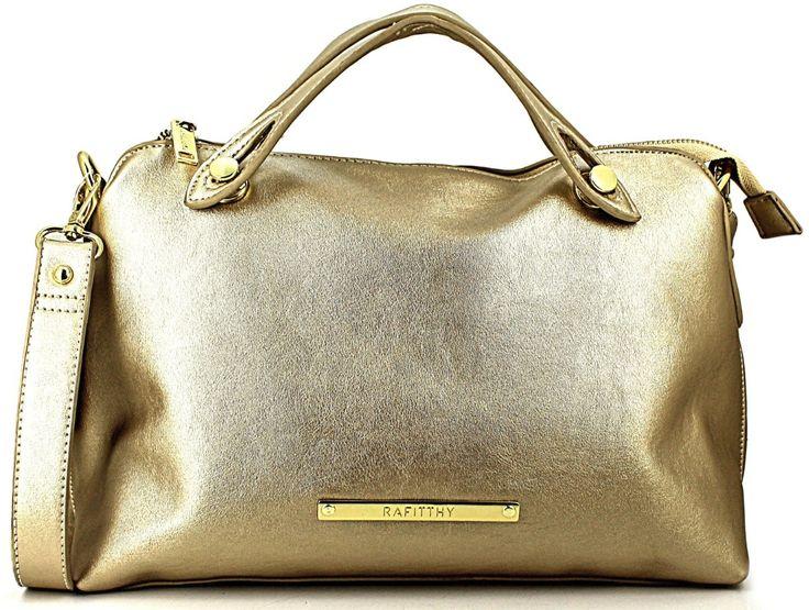 Bolsa Feminina de Mão Tiracolo Grande Dourado Rafitthy 22.61110