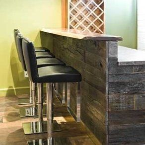 Reclaimed Wood Bar custom made by Union Square Vintage Wood