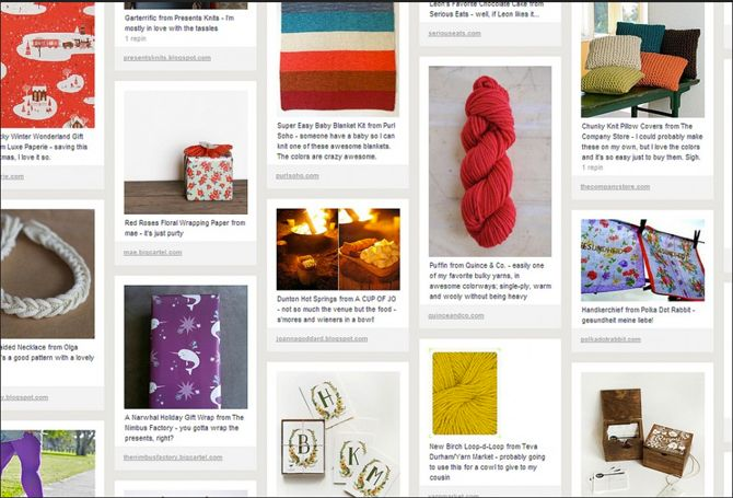 Pinterest Product Board
