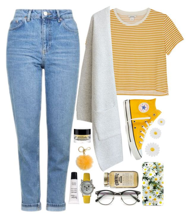 """""""#466 Y-E-L-L-O-W."""" by aria8825 on Polyvore featuring Monki, Topshop, Converse, Kate Spade, Monsoon, MICHAEL Michael Kors, Olivia Pratt and philosophy"""