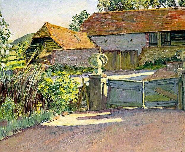 Duncan Grant: Charleston, the barns from the garden
