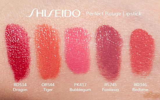 Shiseido-perfect-rouge-lipstick-swatches-rd514-or544-pk417-rs745-rd346