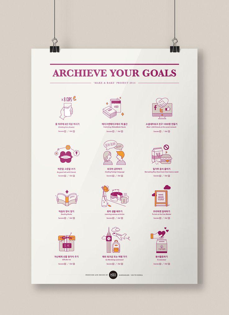 목표달성 포스터 [Archieve your goals] :: 텀블벅