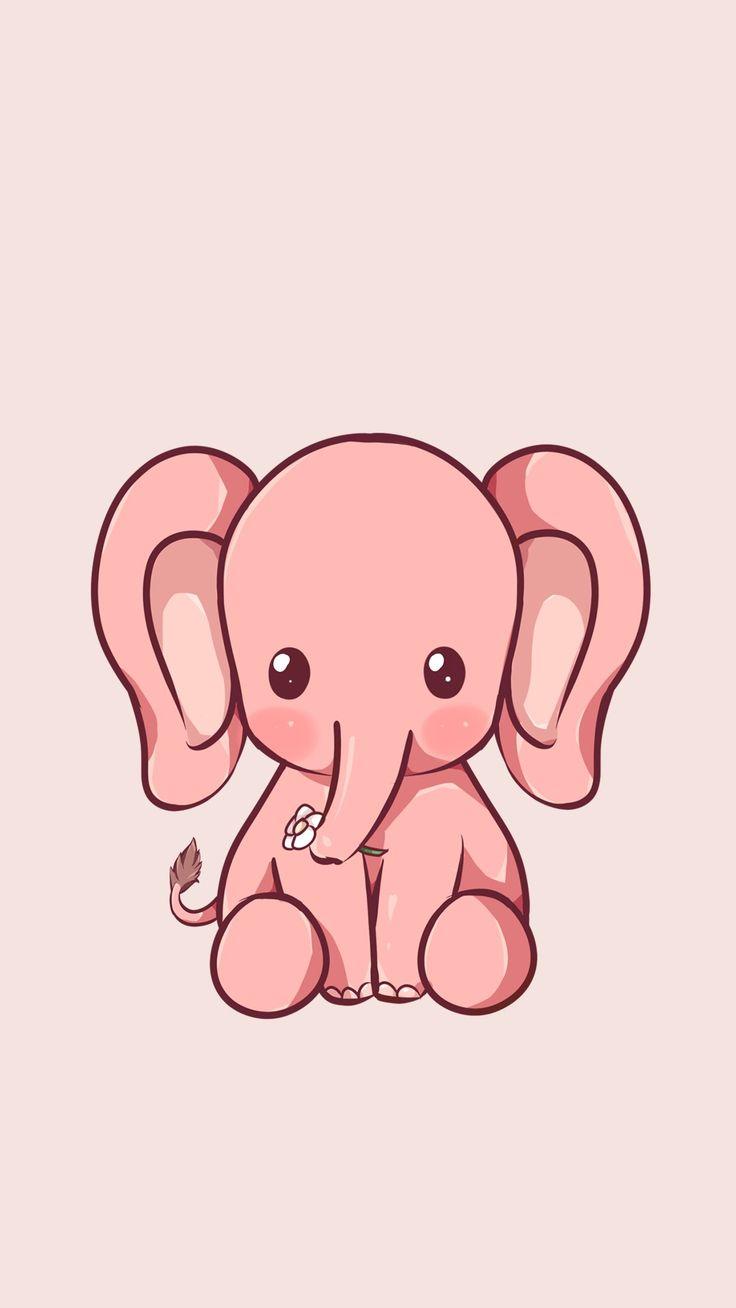 Baby elephant iphone wallpaper