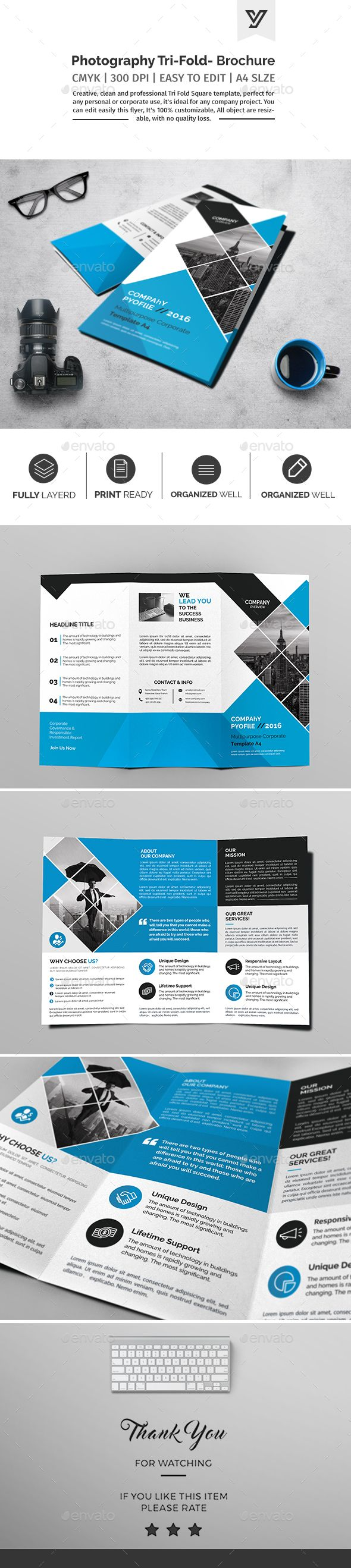 Corporate Tri-fold Brochure Template PSD. Download here: https://graphicriver.net/item/corporate-trifold-brochure-template-03/17381361?ref=ksioks